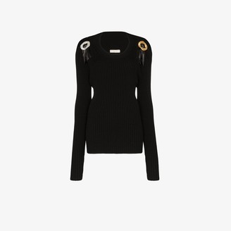 Bottega Veneta Leather buckle detail sweater
