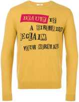 Valentino beauty is a birthright intarsia jumper - men - Cashmere/Virgin Wool - S