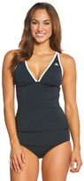 adidas Women's Solid Piped Crossback Tankini Top 8150229