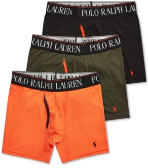 Polo Ralph Lauren Men's 3-Pk. 4-d Flex Cool Boxer Briefs