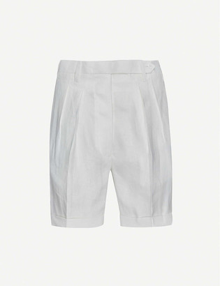 Giuliva Heritage Collection Husband high-rise linen shorts