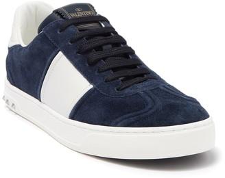 Valentino Striped Suede Sneaker
