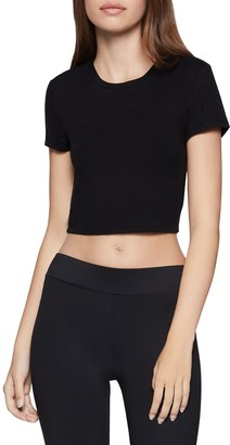BCBGeneration Solid Crop T-Shirt