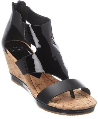 Donald J Pliner Mara Patent Wedge Sandal
