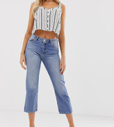 Miss Selfridge straight leg jeans in mid wash