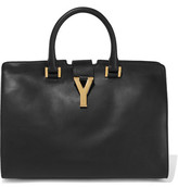 Saint Laurent Cabas Y Leather Tote - Black