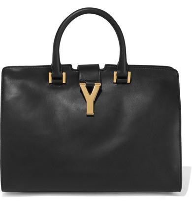 Saint Laurent Cabas Y Leather Tote - Black