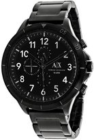 Giorgio Armani Exchange Classic AX1751 Men's Black Ion-Plated Stainless Steel Chronograph Watch