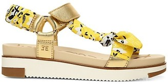 Sam Edelman Ashie Fabric & Metallic Leather Sport Sandals