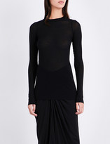 Rick Owens Raw-cut long-sleeved jersey top