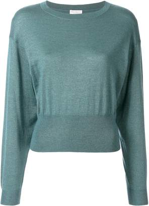 Brunello Cucinelli metallic-knit top