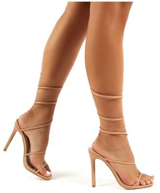 Public Desire Uk Caris Wrap Around Cuff Stiletto High Heels