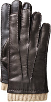 Johnston & Murphy Knit-Cuff Leather Smart Gloves