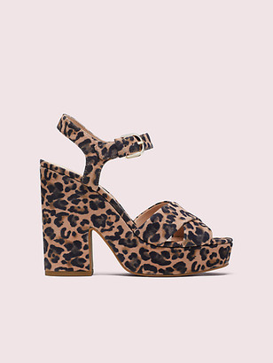 Kate Spade Grace Leopard Platform Sandals