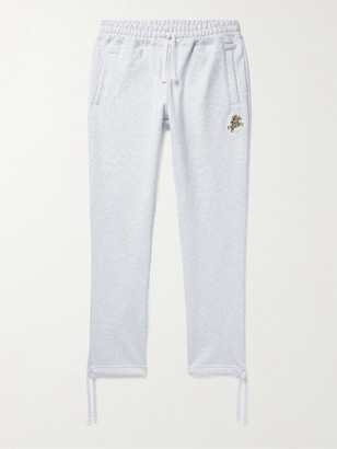 Aimé Leon Dore Drake's Tapered Logo-Embroidered Loopback Cotton-Jersey Sweatpants - Men - Gray