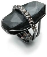Alexis Bittar Rhodium Orbiting Layered Ring
