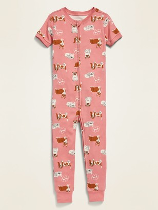 Old Navy Printed Short-Sleeve Pajama One-Piece for Toddler & Baby