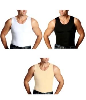 Instaslim Men's Big & Tall Insta Slim 3 Pack Compression Muscle Tank T-Shirts