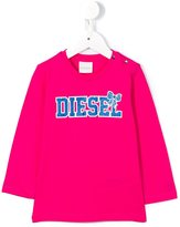 Diesel glitter logo sweatshirt