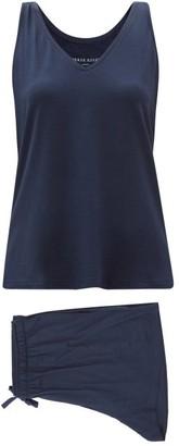 Derek Rose Lara Micromodal-blend Pyjamas - Navy