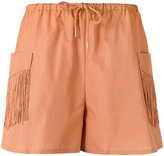See by Chloe fringe pocket shorts - women - Cotton/Polyester - 38