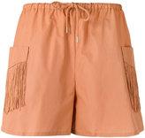 See by Chloe fringe pocket shorts
