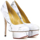 Charlotte Olympia Dolly Printed Leather Pumps