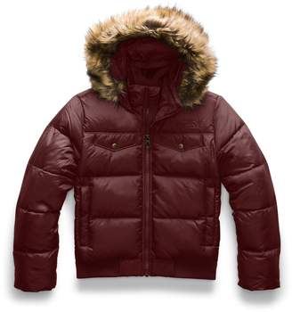 The North Face Gotham Water Resistant 550 Fill Power Down Jacket with Faux Fur Trim