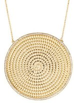 Rachel Zoe Crystal Disc Pendant Necklace
