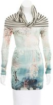 Jean Paul Gaultier Abstract Print Long Sleeve Top