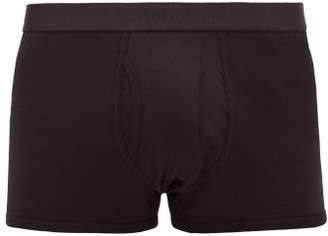 Sunspel Superfine Low-rise Cotton Boxer Briefs - Black
