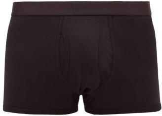 Sunspel Superfine Low-rise Cotton Boxer Briefs - Mens - Black
