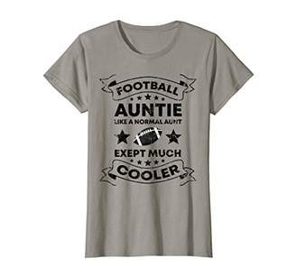 Womens Vintage Football Auntie Aunt Distressed Football Lover Gift T-Shirt