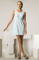 Pleated Cotton Minidress