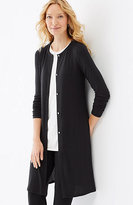 J. Jill Wearever Ultrafine Long Jacket