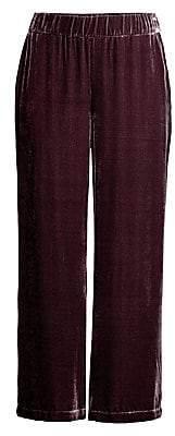 Eileen Fisher Women's Velvet Wide-Leg Pants
