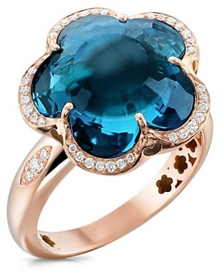 Pasquale Bruni Bon Ton 18K Rose Gold, Topaz & Diamond Ring