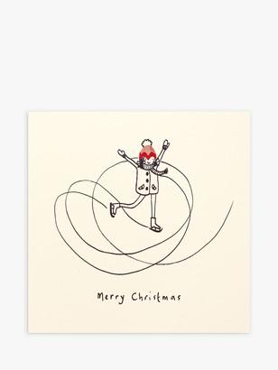 Ruth Jackson Ice Skater Christmas Card