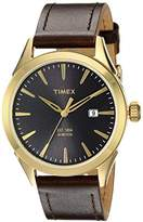 Timex Men's TW2P77500AB City Collection Analog Display Quartz Brown Watch