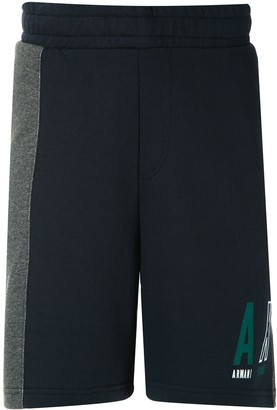 Armani Exchange Colour Block Fleece Bermuda Shorts