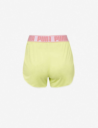 Puma Last Lap logo-print mid-rise knitted shorts