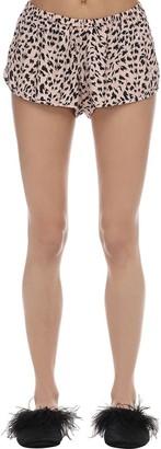 Animalier Print Cotton Shorts