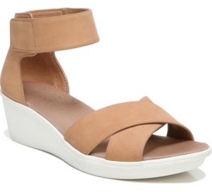 Naturalizer Riviera Ankle Strap Wedge Sandals Women's Shoes