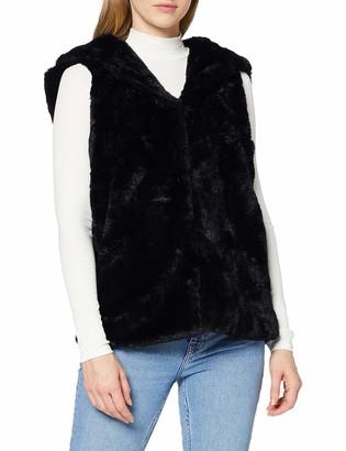 Urban Classics Women's Kapuzen-Weste Ladies Armellose Jacke Faux Fur Vest Sports Gilet