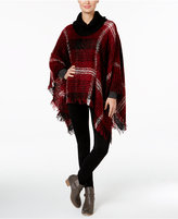 David & Young Brushed Cowl-Neck Poncho