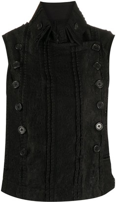 Ann Demeulemeester Lace Panelled Gilet