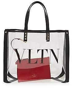 Valentino Women's Garavani Small VLTN PVC Tote