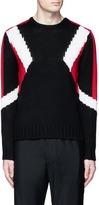 Neil Barrett 'Retro Modernist' intarsia wool sweater