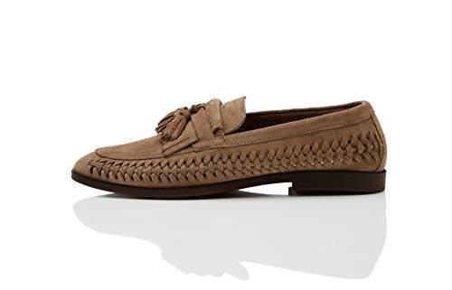 5da89047ea443 Amazon Brand - find. Men's Woven Leather Loafer