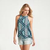 Apricot Multi-Coloured Aztec Patchwork Print Vest